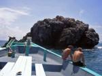 Oberflächenpause auf dem Chaloklum Diving Boot am Sail Rock