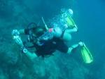 Unterwasser Digital Fotografie, Nick mit seiner alten Cybershot