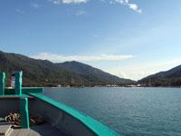 Chaloklum Bay, Koh Phangan; blick vom Boot