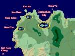 Koh Phangan: Karte der lokalen Tauchplätze