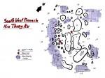 Southwest Pinnacles; Tauchplatzkarte